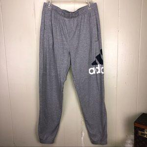 Men's Adidas sweat pants elastic ankles Lg